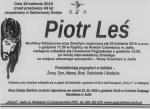 Nekrolog - Piotr Leś - miniatura